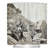 Texas Cowboys, C1908 Shower Curtain
