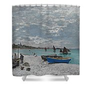The Beach At Sainte-adresse Shower Curtain