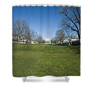 The Rotunda On The Lawn Shower Curtain