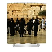 Praying At The Western Wall Shower Curtain
