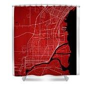 Thunder Bay Street Map - Thunder Bay Canada Road Map Art On Colo Shower Curtain