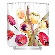 Tulips Flowers Shower Curtain