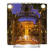 Twilight At Arc De Triomphe Shower Curtain