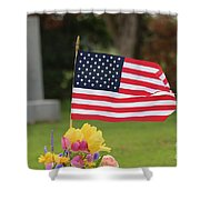 Us Flag On Memorial Day Shower Curtain