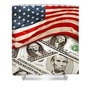 Usa Finance Shower Curtain