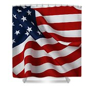 USA Shower Curtain by Les Cunliffe