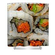 Vegetable Sushi Shower Curtain