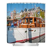 Victoria Wooden Boat Show Shower Curtain