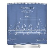 Vintage Steamship Patent From 1911 Shower Curtain