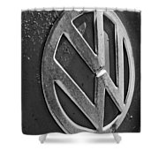 Volkswagen Vw Bus Front Emblem Shower Curtain