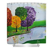 Where There Is Quiet Shower Curtain