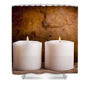 White Candles Shower Curtain