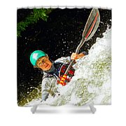 Whitewater Kayak Shower Curtain