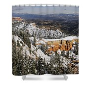 Winter Scene, Bryce Canyon National Park Shower Curtain