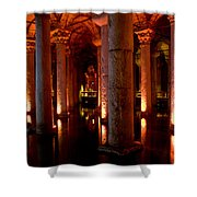 Yerebatan Sarayi Cistern Istanbul  Turkey    Shower Curtain