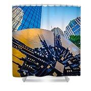 Skyline And City Streets Of Charlotte North Carolina Usa Shower Curtain