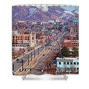 400 S Salt Lake City Shower Curtain