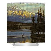 4028a, Evening Skyline, Montreal, Qc Shower Curtain