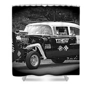 409 Cu Inches Black And White Shower Curtain