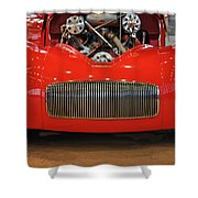 '41 Willy's Coupe Street Rod Shower Curtain