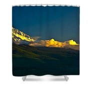 41010-91 A Mt Hood Sunset Shower Curtain