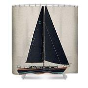 42 Black Sails Shower Curtain