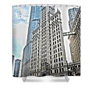 Wrigley Building  Shower Curtain