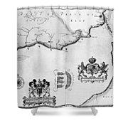 Spanish Armada, 1588 Shower Curtain