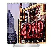 42nd Street New York City Shower Curtain