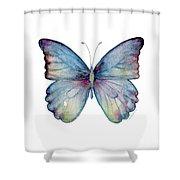 43 Blue Celestina Butterfly Shower Curtain by Amy Kirkpatrick