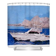 Storm Chasing On The High Seas Shower Curtain