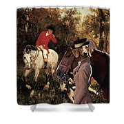Dachshund Art Canvas Print Shower Curtain