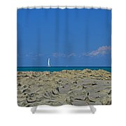 44- Come Sail Away Shower Curtain