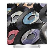 45 Records Nostalgia Shower Curtain