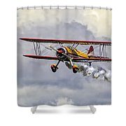 450 Hp Stearman Shower Curtain