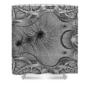 459 - Design Abstract 1 Shower Curtain