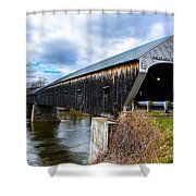 460 Foot Long New Hampshire Covered Bridge Shower Curtain
