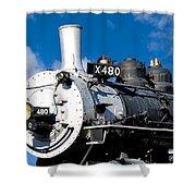 480 Locomotive Shower Curtain