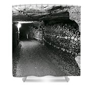 Skulls And Bones In The Catacombs Of Paris France Shower Curtain