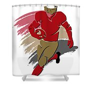 49ers Shadow Player2 Shower Curtain