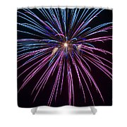 4th Of July 2014 Fireworks Bridgeport Hill Clarksburg Wv 1 Shower Curtain