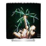 4th Of July 2014 Fireworks Bridgeport Hill Clarksburg Wv 2 Shower Curtain by Howard Tenke