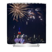 4th Of July Fireworks Shower Curtain by Eduard Moldoveanu