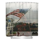 4th Of July In Seabeck Shower Curtain
