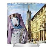 Bull Terrier Art Canvas Print Shower Curtain