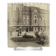 16th Street Baptist Church In Black And White With A White Vingette Shower Curtain