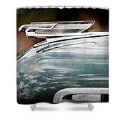 1940 Chevrolet Hood Ornament Shower Curtain