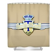 1954 Hudson Italia Touring Coupe Emblem Shower Curtain