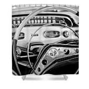 1958 Chevrolet Impala Steering Wheel Shower Curtain