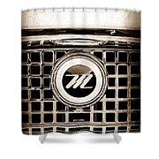 1959 Nash Metropolitan Grille Emblem Shower Curtain